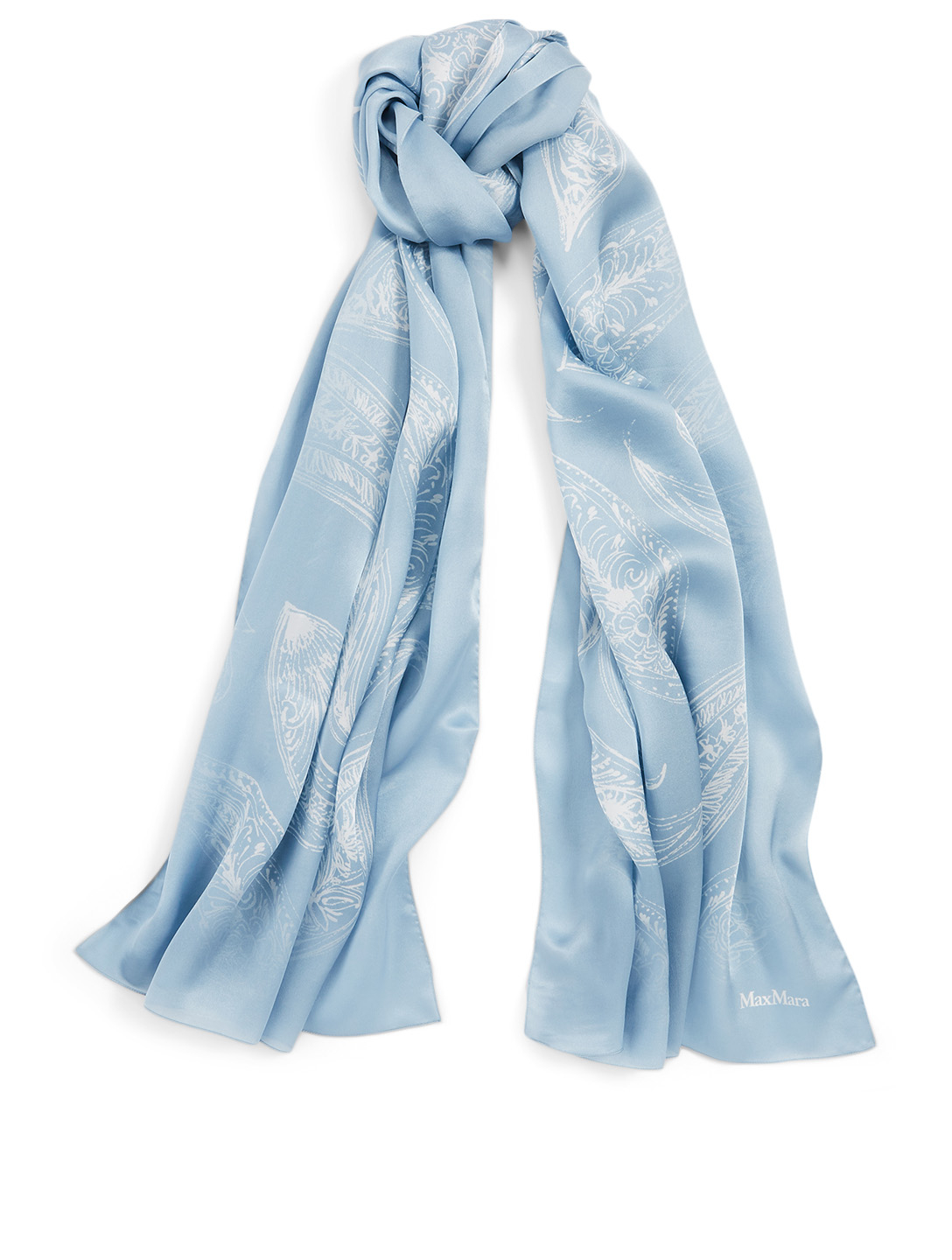 MAX MARA Rasetto Silk Scarf Women's Blue