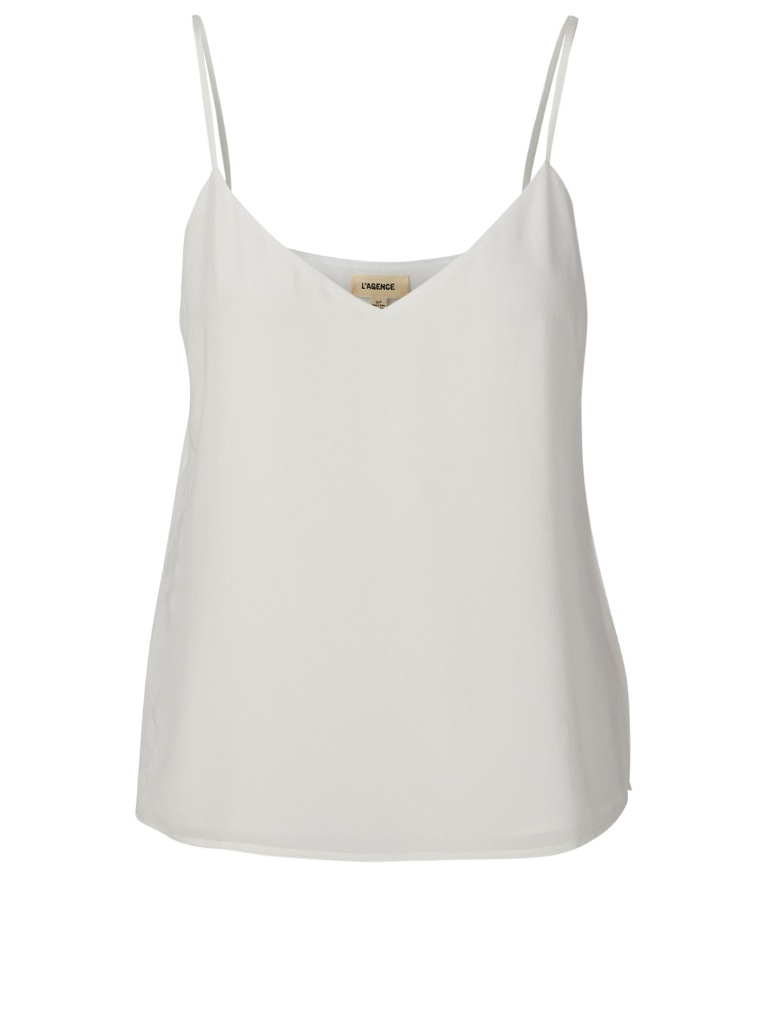 L AGENCE Jane Silk Camisole Women's White