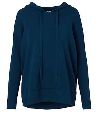 LIVE THE PROCESS Oversized Knit Hoodie Women's Blue