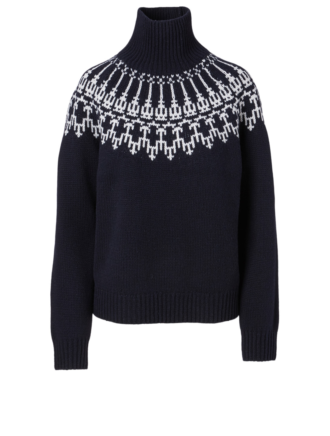 TORY SPORT Merino Fair Isle Sweater Women's Blue