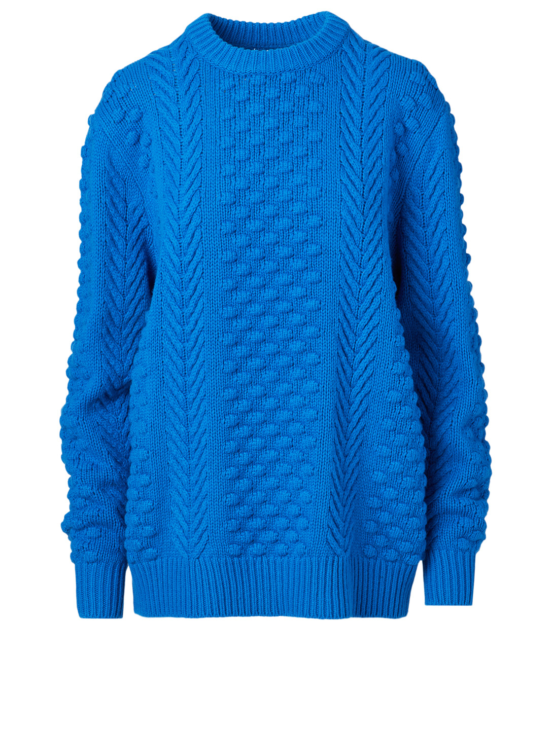 TORY SPORT Chunky Merino Cable Knit Sweater Women's Blue