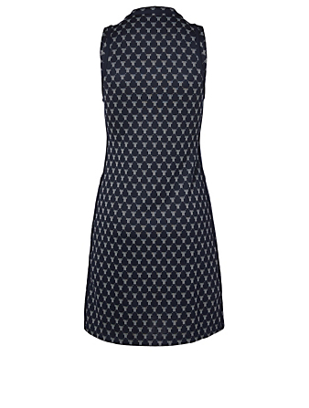 TORY SPORT Net-T Sleeveless Track A-Line Dress Women's Blue
