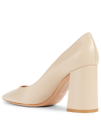 GIANVITO ROSSI Leather Pumps Women's Beige