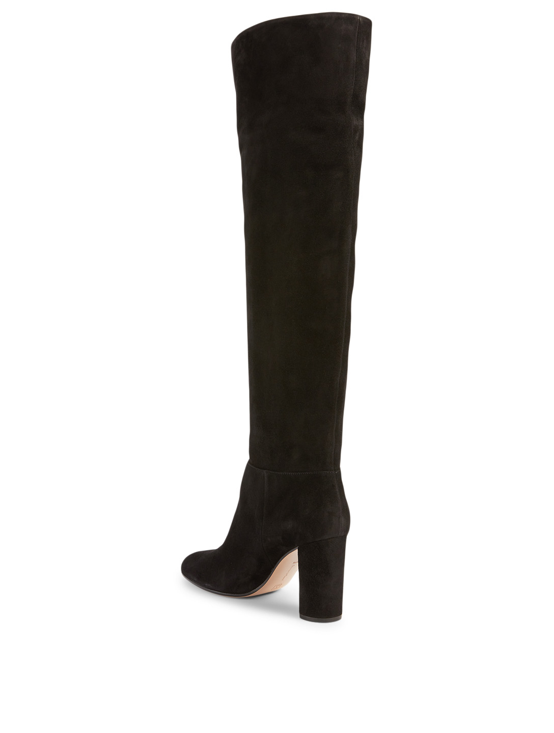 GIANVITO ROSSI Melissa Suede Heeled Knee-High Boots Women's Black