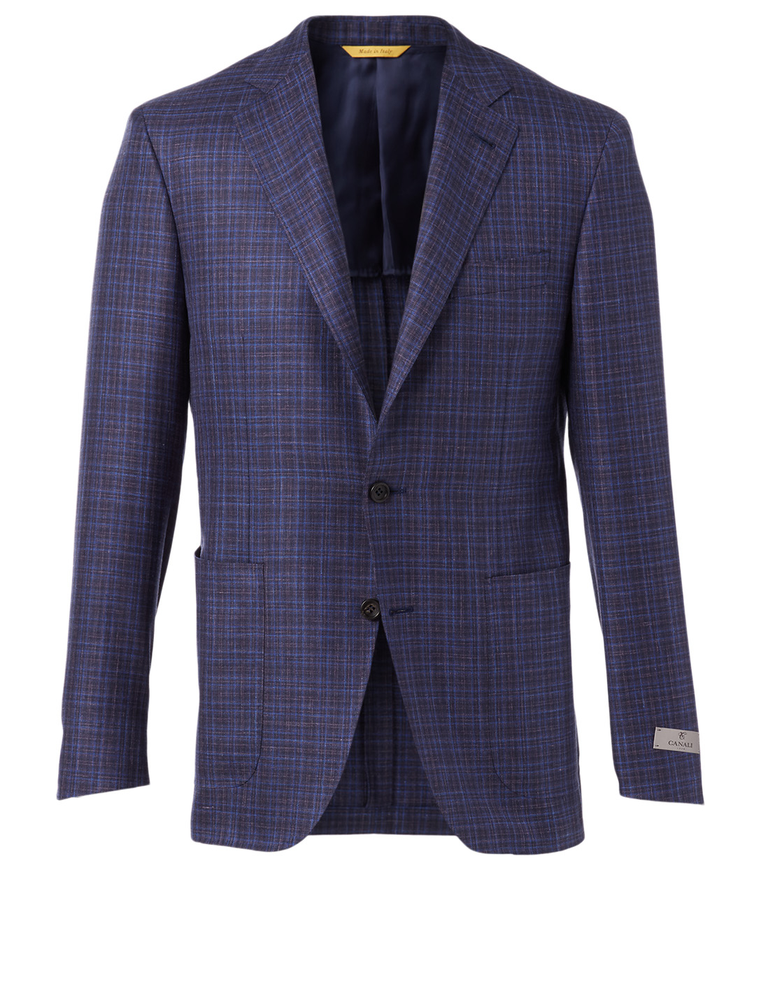 CANALI Textured Wool Silk And Linen Jacket Men's Purple