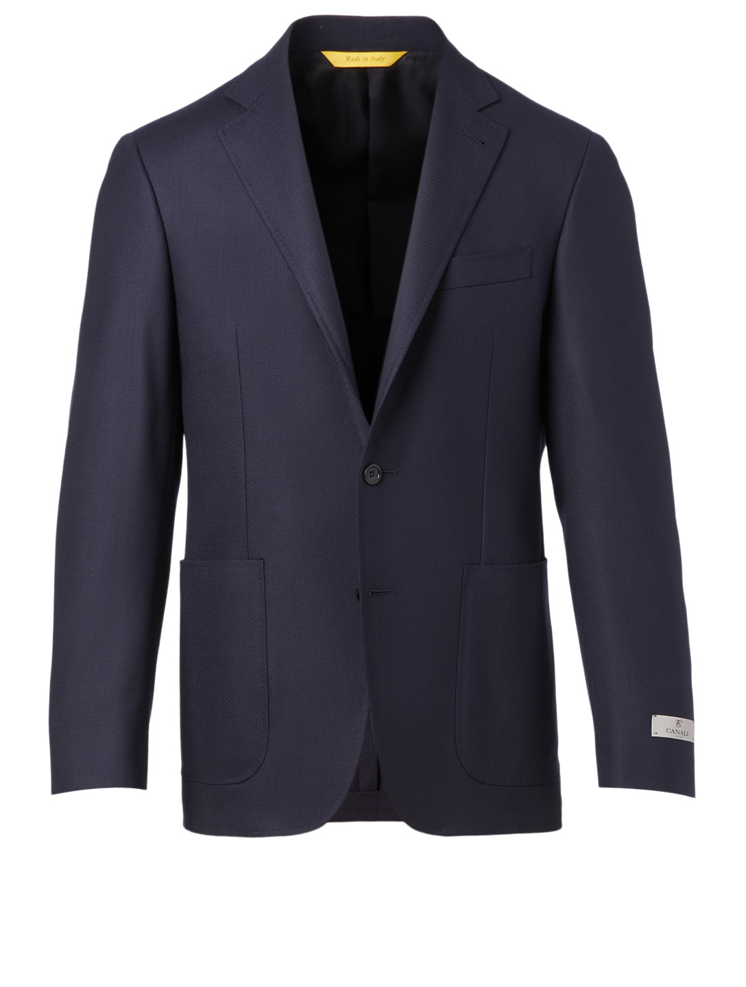 CANALI Wool Stretch Jacket Men's Blue