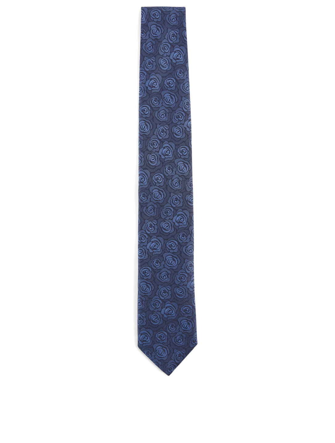 CANALI Silk Tie In Floral Print Men's Blue