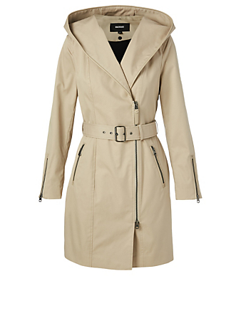 MACKAGE Adela Trench Coat With Hood Women's Beige