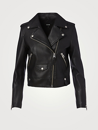 MACKAGE Baya Leather Moto Jacket Women's Black