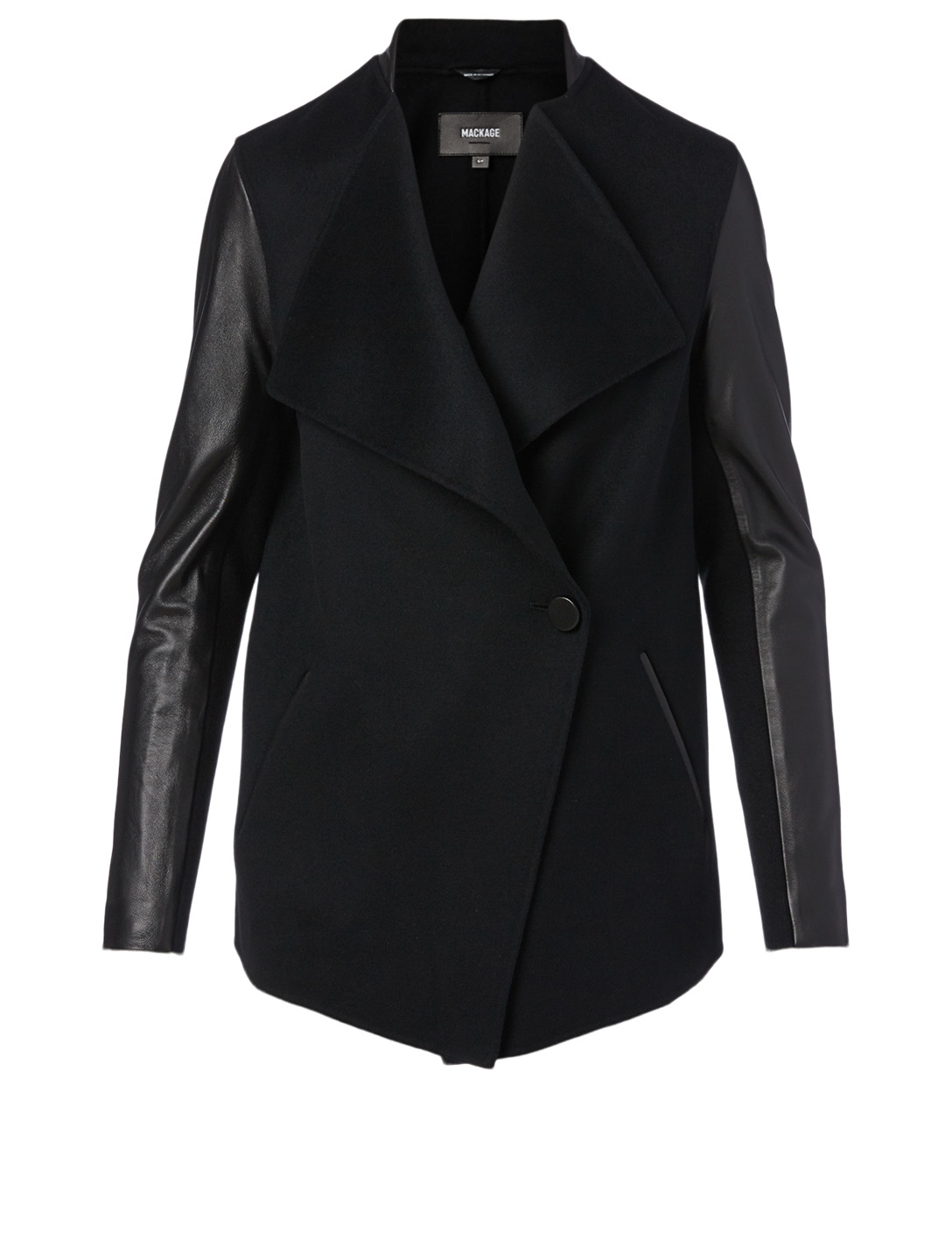 MACKAGE Valla Wool And Leather Coat Women's Black