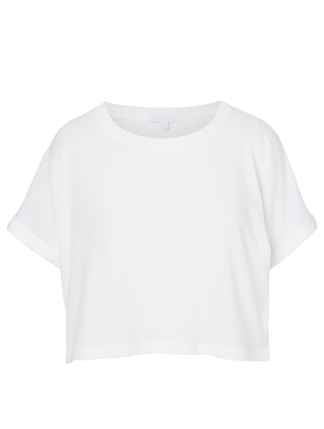 BEYOND YOGA Never Been Boxy Cropped T-Shirt Women's White