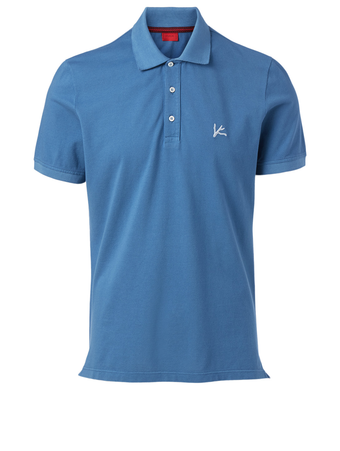 ISAIA Piqué Polo Shirt Men's Blue