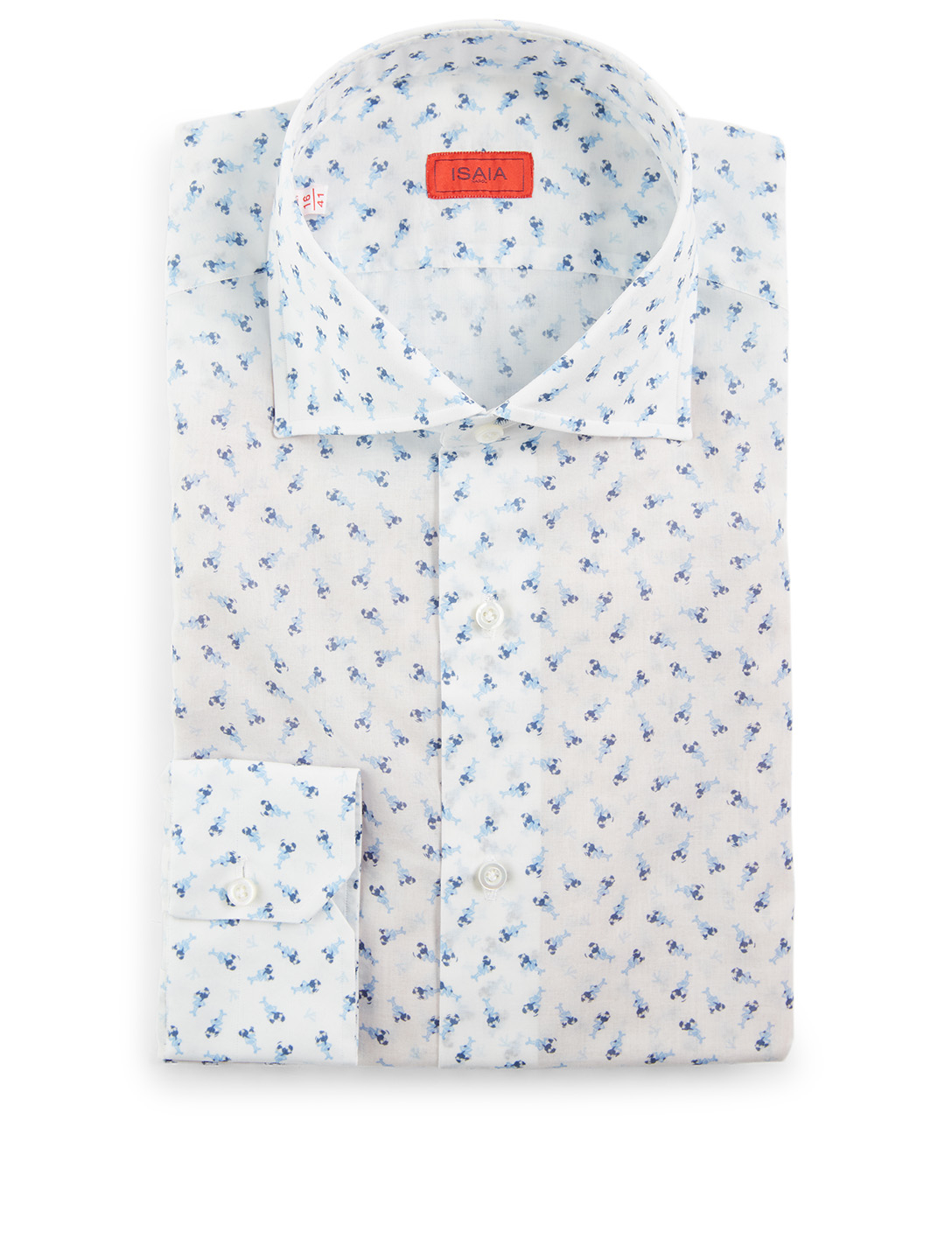 ISAIA Dress Shirt In Coralino Print Men's Blue