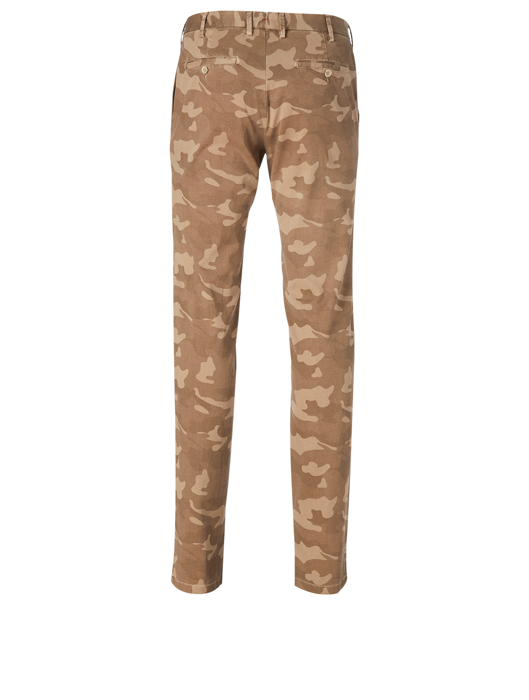 ISAIA Stretch Cotton Pants In Camo Print Men's Brown