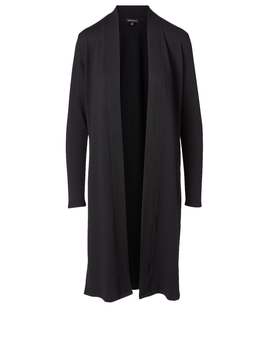 BEYOND YOGA Fleece Slit Duster Cardigan Women's Black
