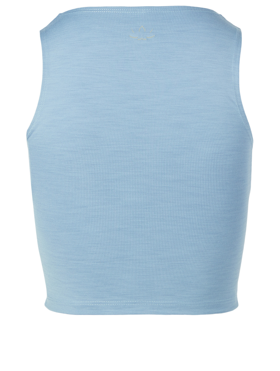 BEYOND YOGA Heather Rib Square Neck Cropped Tank Top Women's Blue