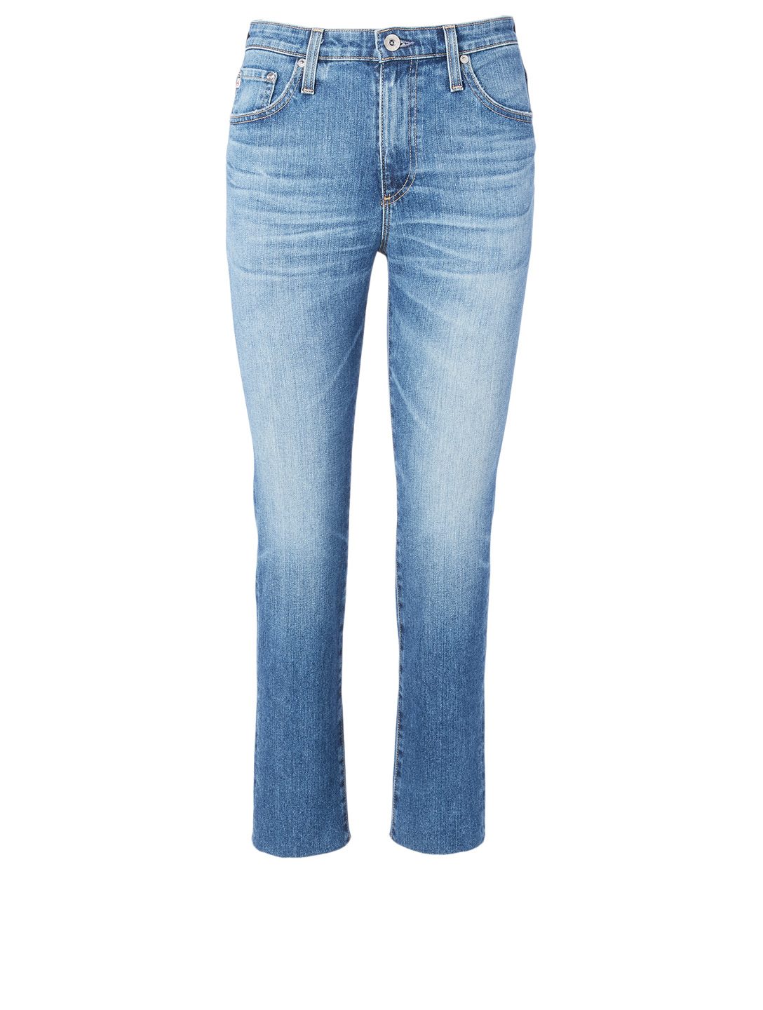 AG Isabelle High-Waisted Straight Crop Jeans Women's Blue