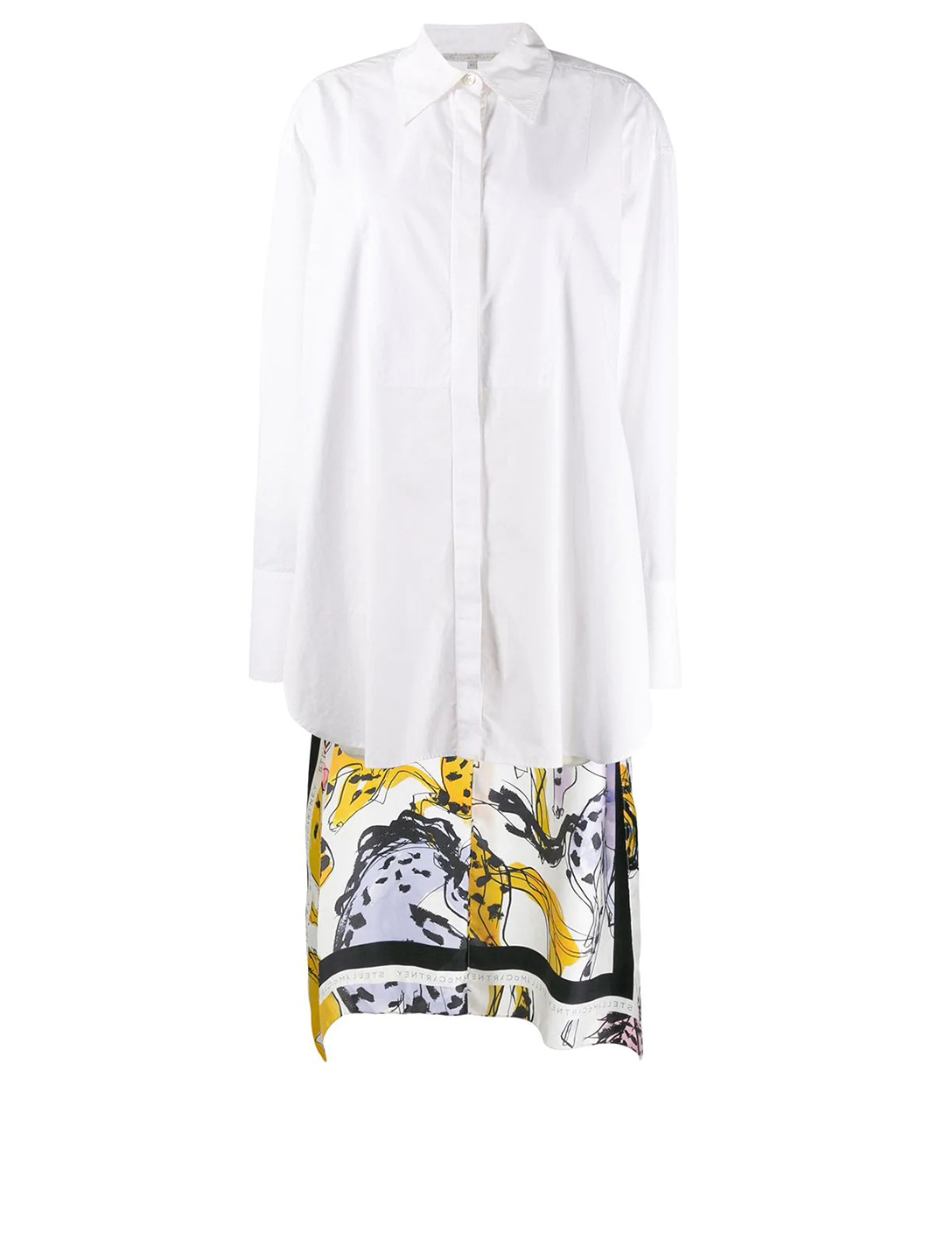 STELLA MCCARTNEY Cotton Shirt With Printed Long Back Women's White