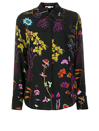 STELLA MCCARTNEY Silk Blouse In Floral Print Women's Black