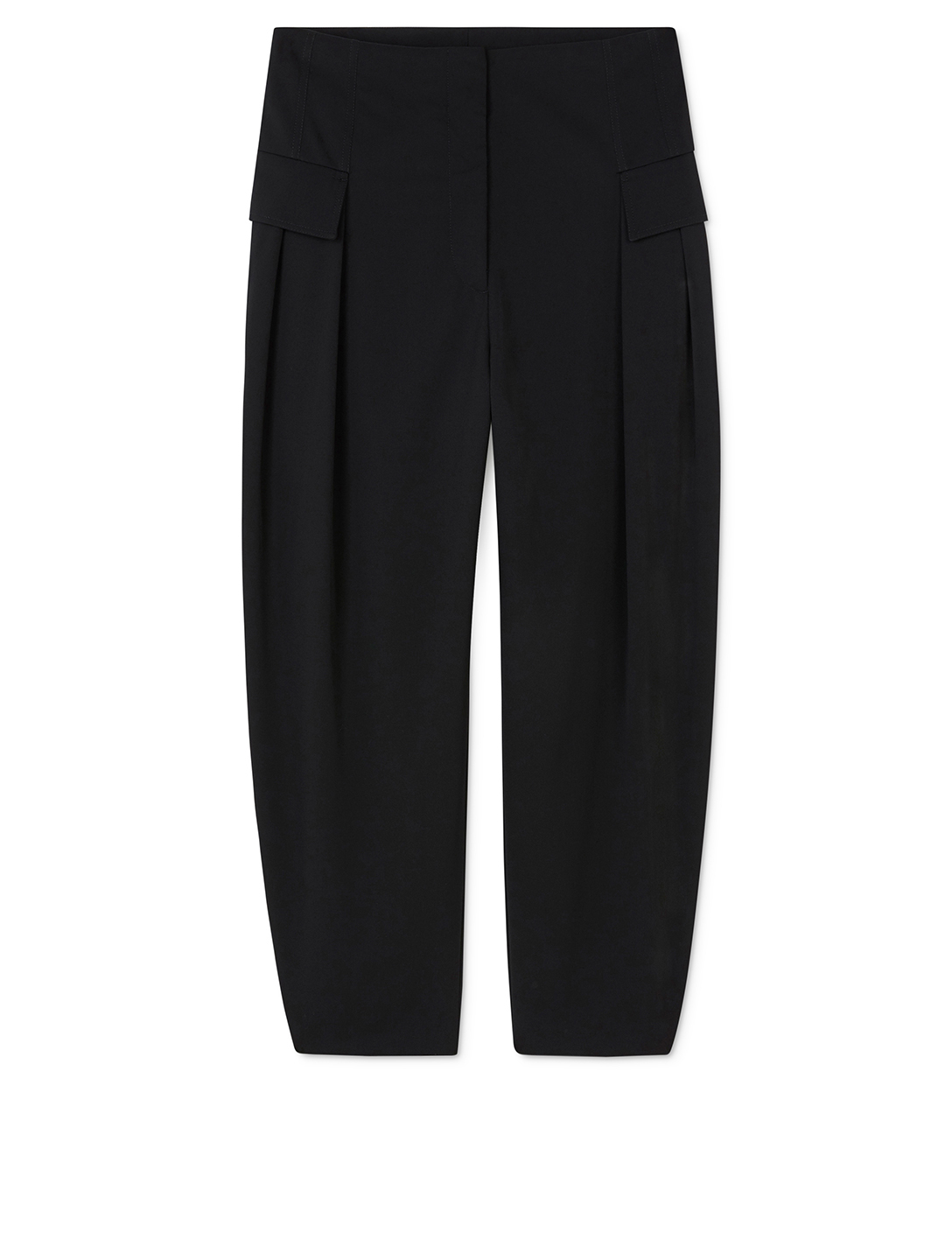 STELLA MCCARTNEY Wool Stretch Pants With Flap Pockets Women's Black