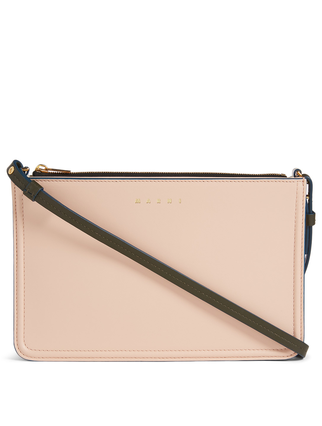 MARNI Beat Leather Crossbody Bag Women's Pink