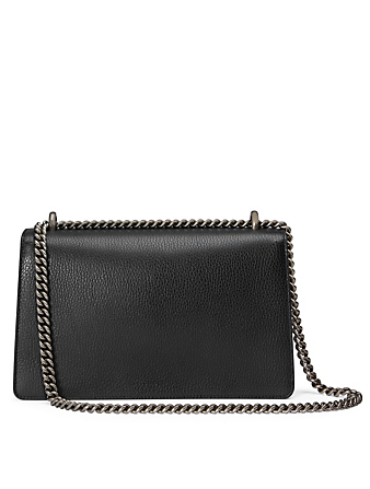 GUCCI Small Dionysus Leather Shoulder Bag Women's Black