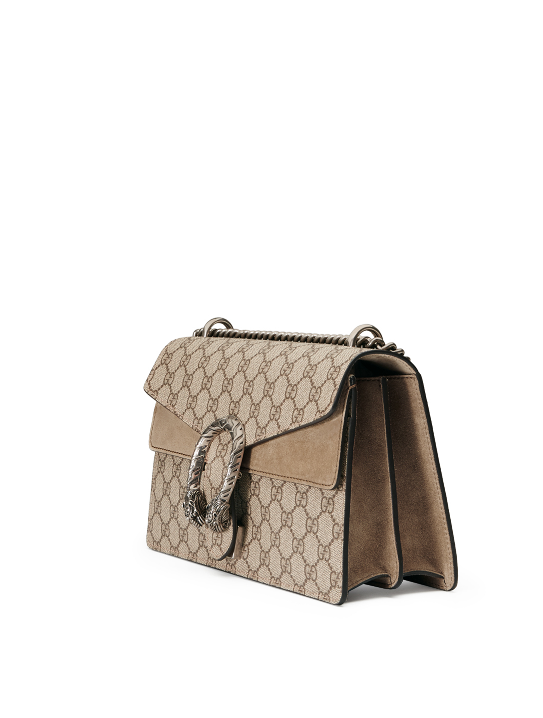 GUCCI Small Dionysus GG Supreme Shoulder Bag Women's Beige