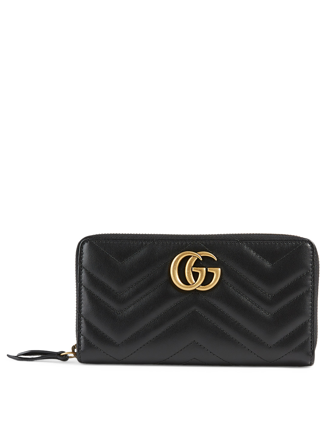 GUCCI GG Marmont Matelassé Leather Wallet Women's Black