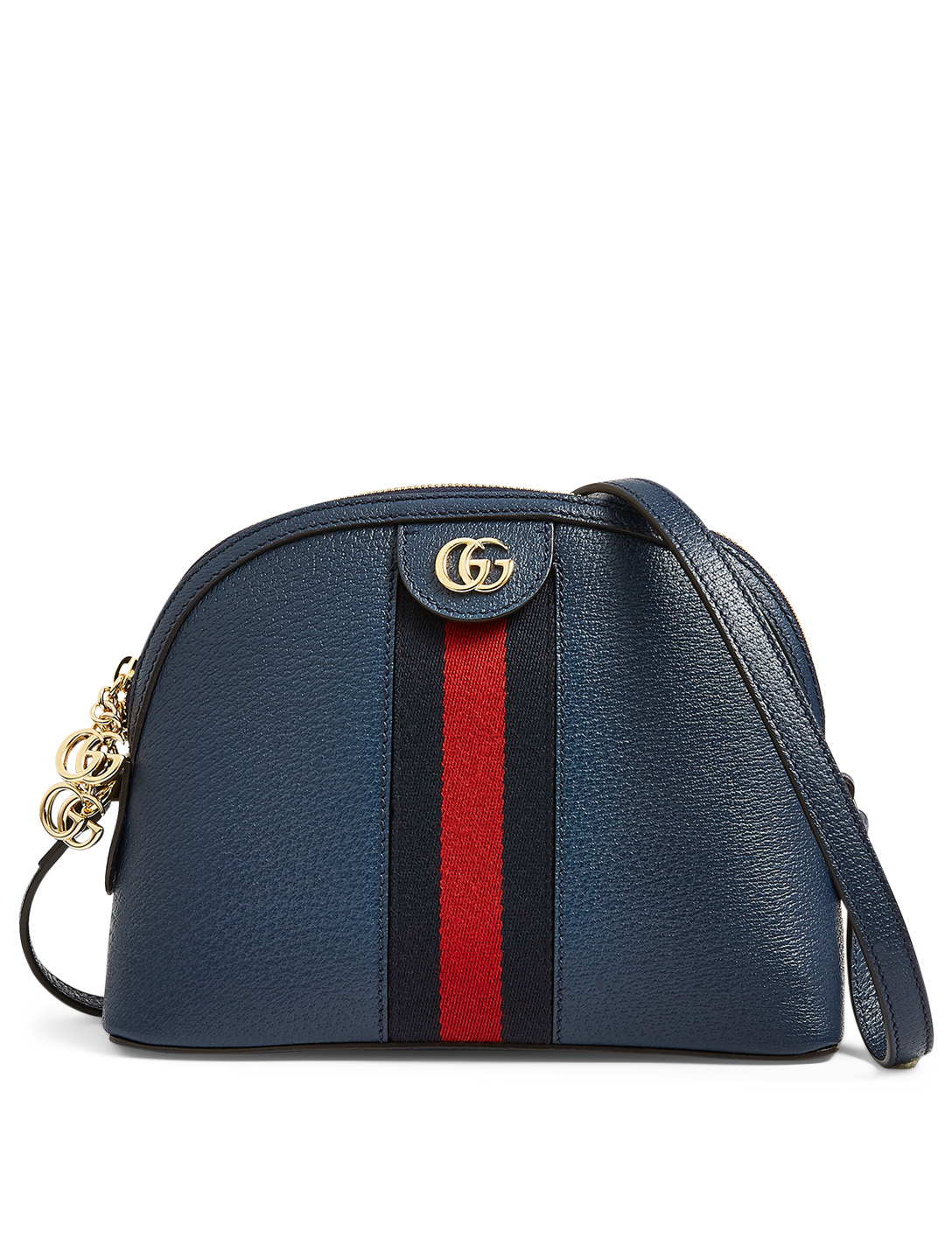 GUCCI Small Ophidia Leather Shoulder Bag Women's Blue