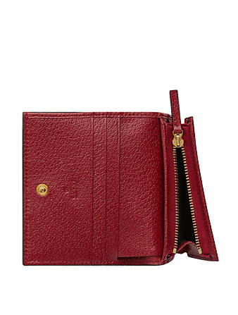 GUCCI Ophidia GG Supreme Wallet In Flora Print Women's Red