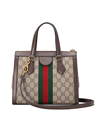 GUCCI Small Ophidia GG Supreme Top Handle Tote Bag Women's Beige