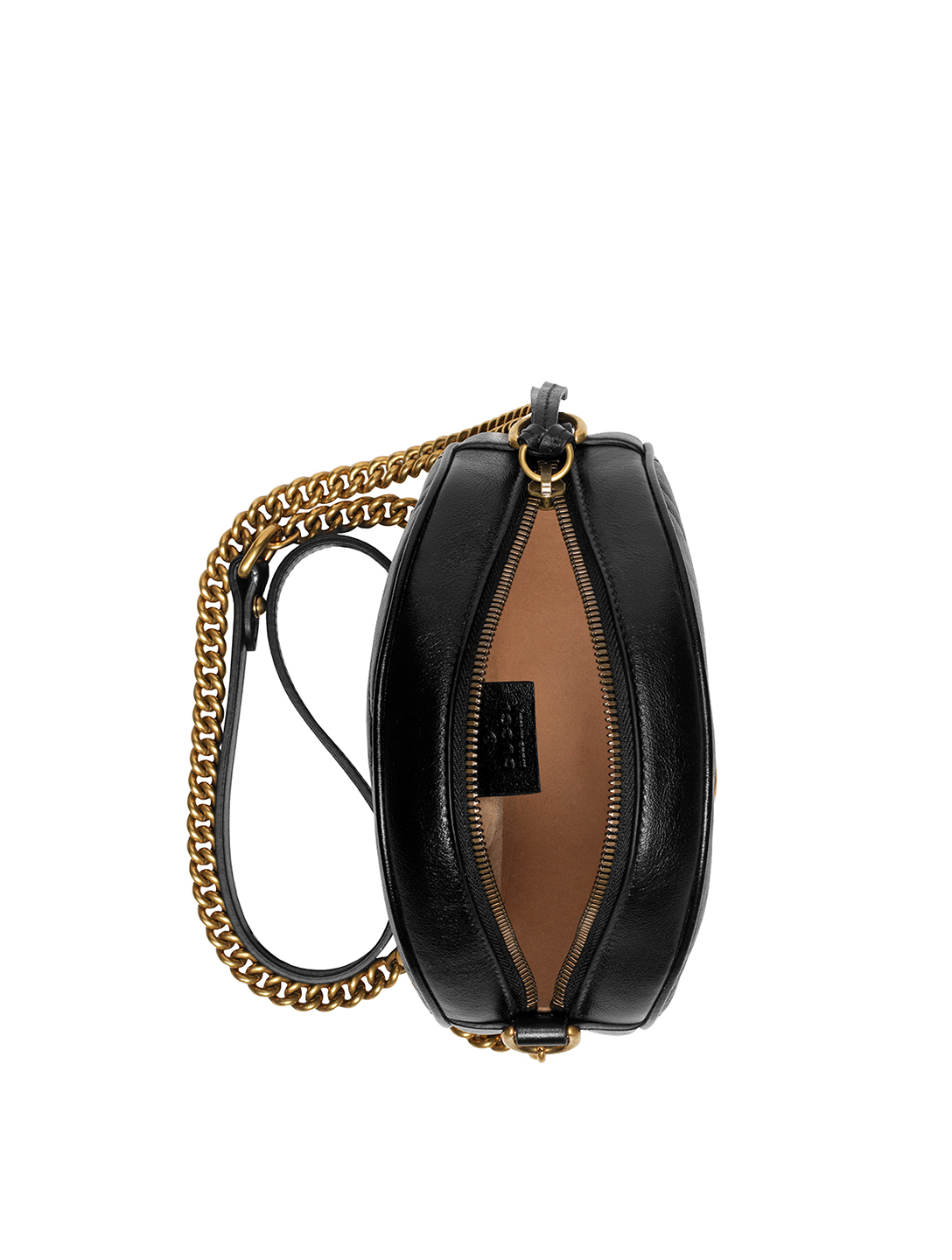 GUCCI GG Marmont Leather Circle Bag Women's Black
