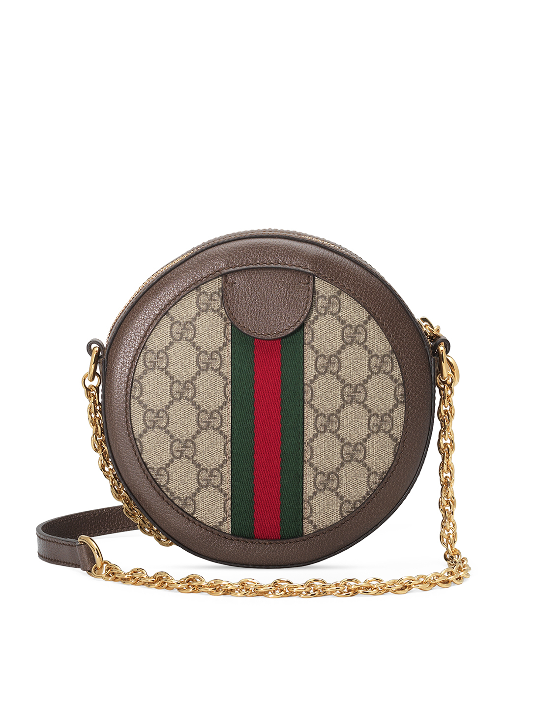 GUCCI Ophidia GG Supreme Circle Bag Women's Beige