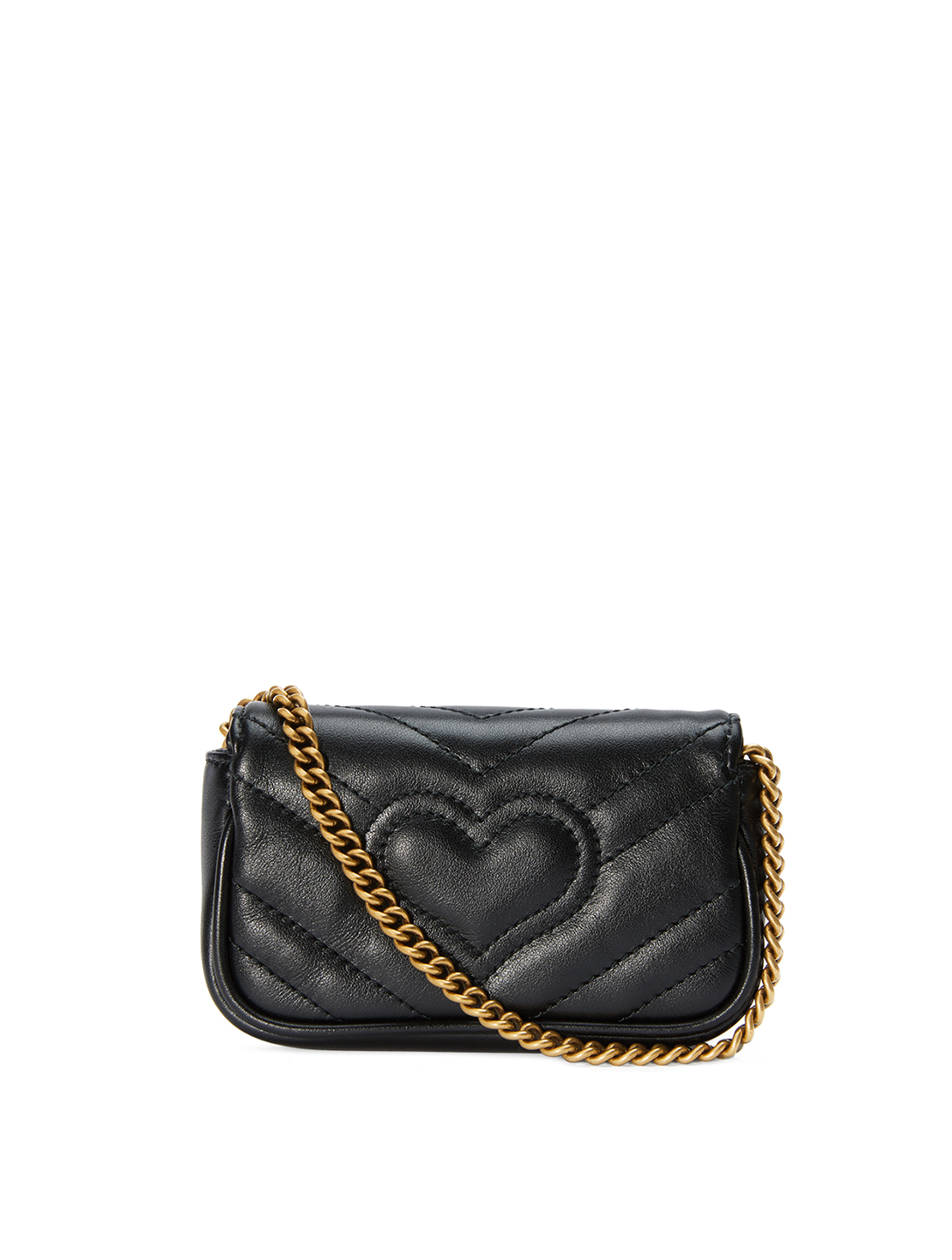 GUCCI GG Marmont Leather Coin Case Bag Women's Black