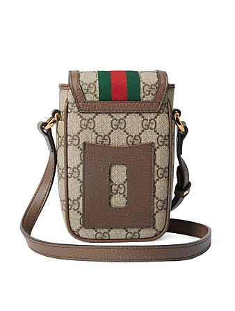 GUCCI Ophidia GG Supreme Phone Bag Women's Beige