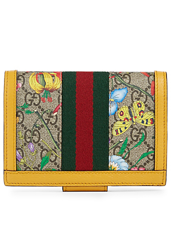 GUCCI Ophidia GG Flora Passport Case Women's Multi