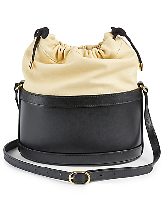 GUCCI Small Gucci 1955 Horsebit Leather Bucket Bag Women's Beige
