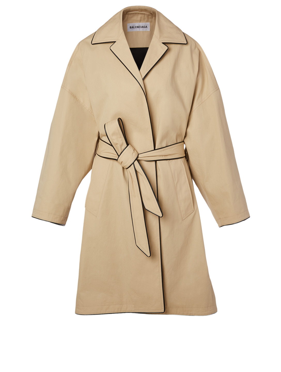BALENCIAGA Cotton Cocoon Coat Women's Beige