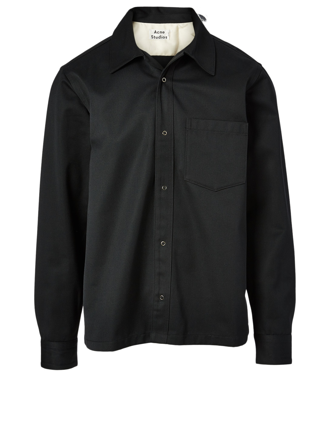 ACNE STUDIOS Cotton Twill Shirt Men's Black