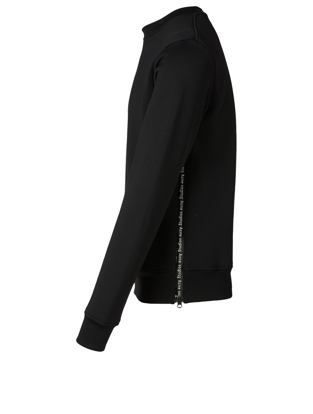 ACNE STUDIOS Cotton Sweatshirt With Side Zip Men's Black