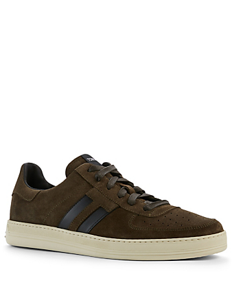 TOM FORD Radcliffe Suede Sneakers Men's Green