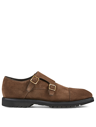 TOM FORD Suede Double-Monk Strap Shoes Men's Brown