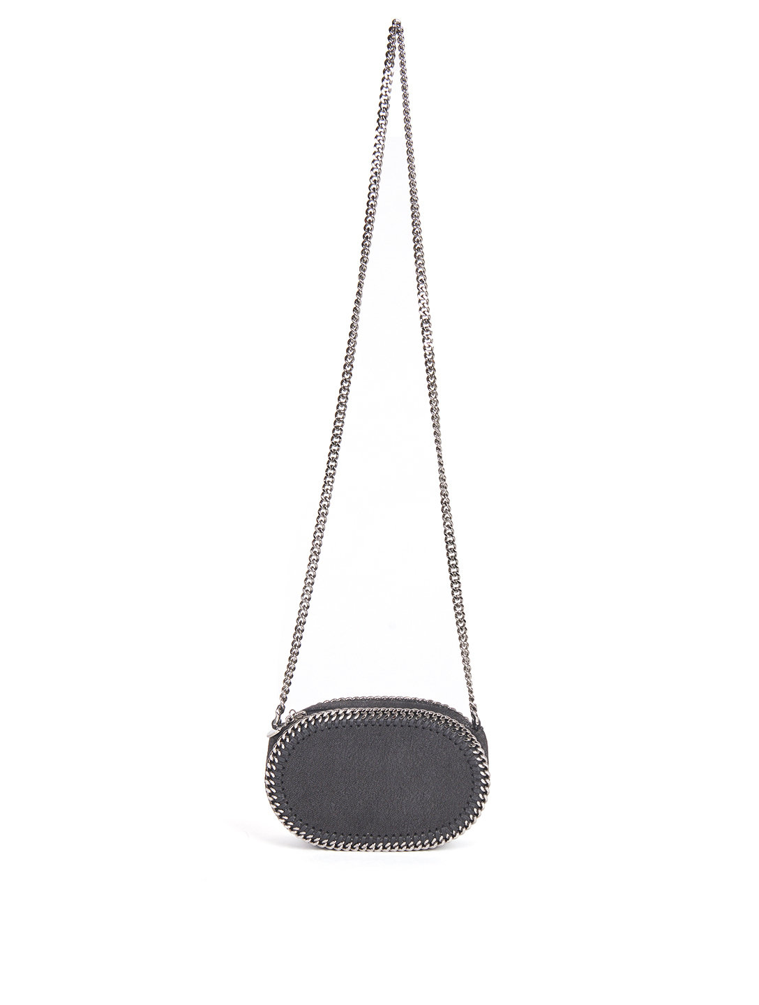 STELLA MCCARTNEY Falabella Oval Crossbody Bag Women's Black