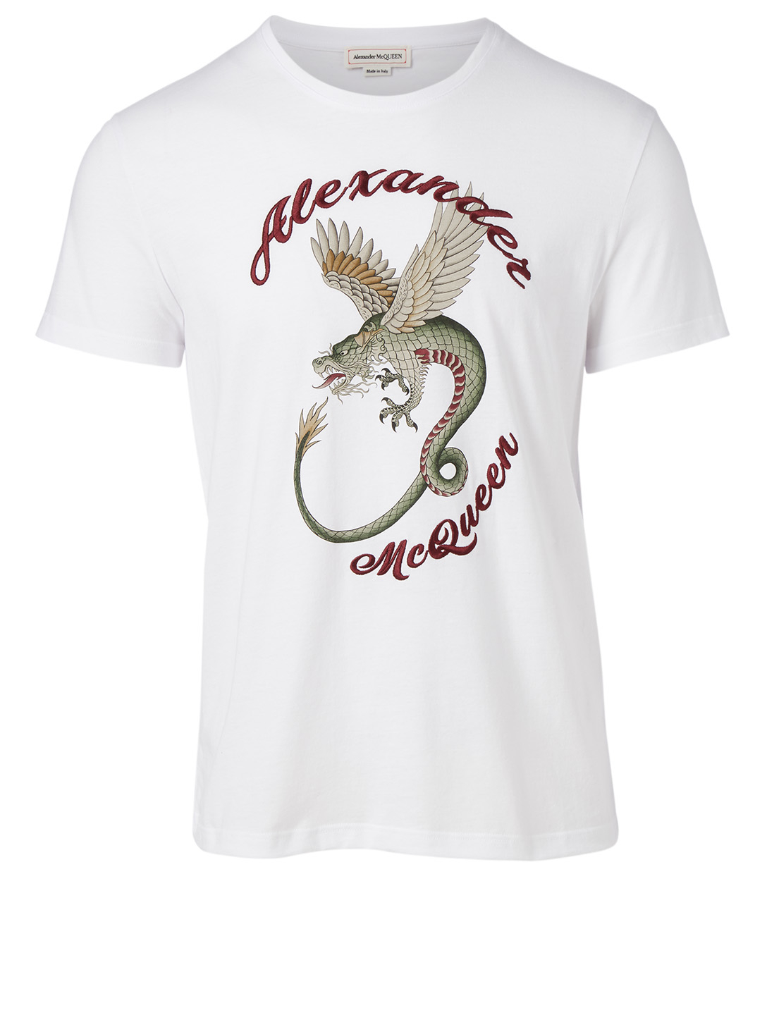 ALEXANDER MCQUEEN Cotton Graphic T-Shirt Men's White