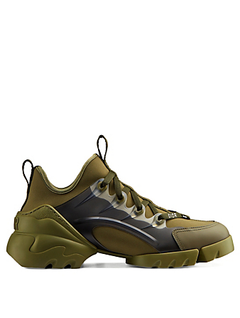 DIOR D-Connect Technical Fabric Sneakers Women's Green
