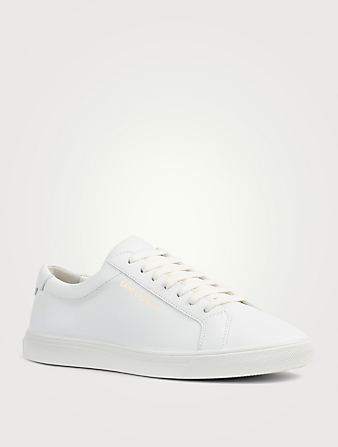 SAINT LAURENT Sneakers Andy en cuir Femmes Blanc