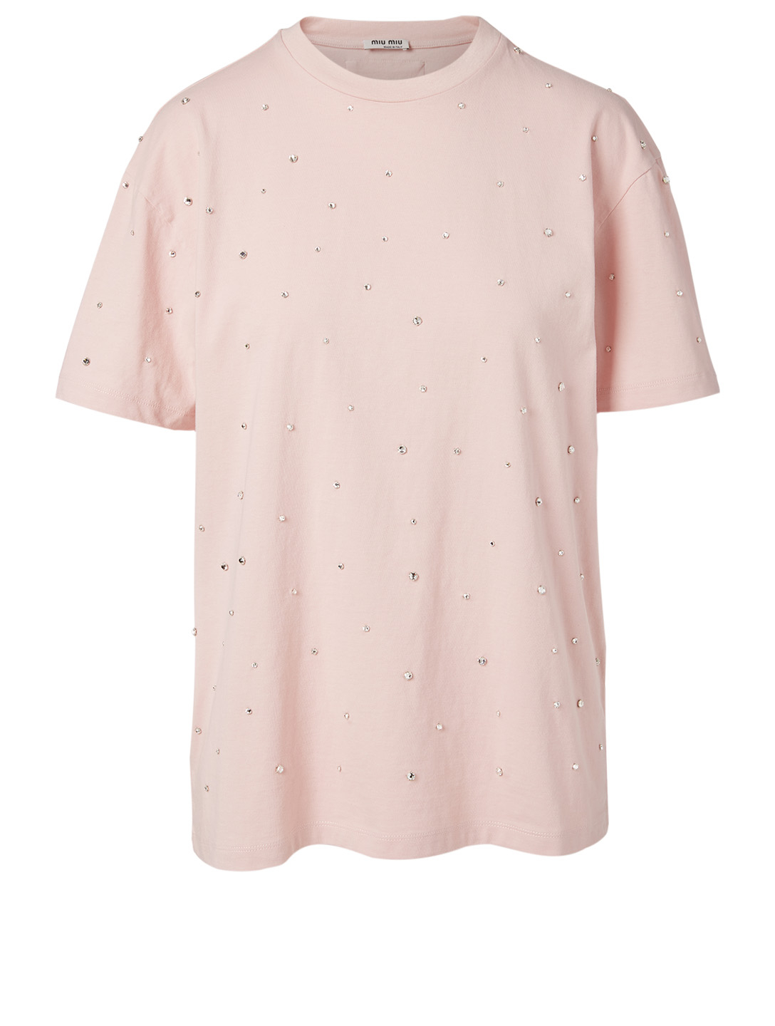 MIU MIU Cotton Oversized T-Shirt Women's Pink