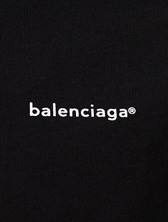 BALENCIAGA Cotton Logo T-Shirt Men's Black