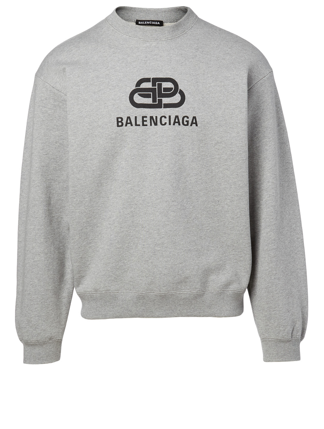 BALENCIAGA BB Cotton Sweatshirt Men's Grey