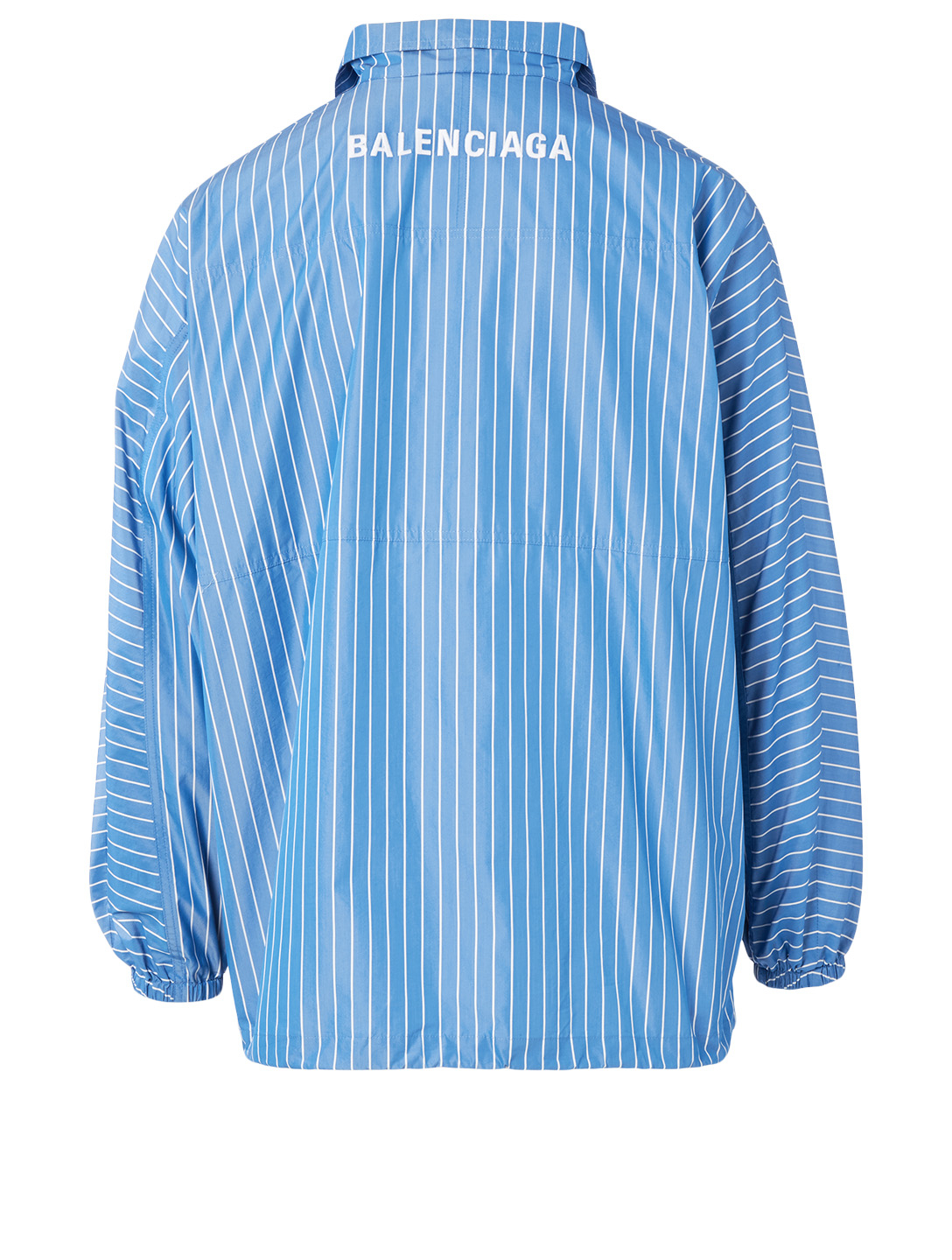 BALENCIAGA Zip Jacket In Striped Print Men's Blue